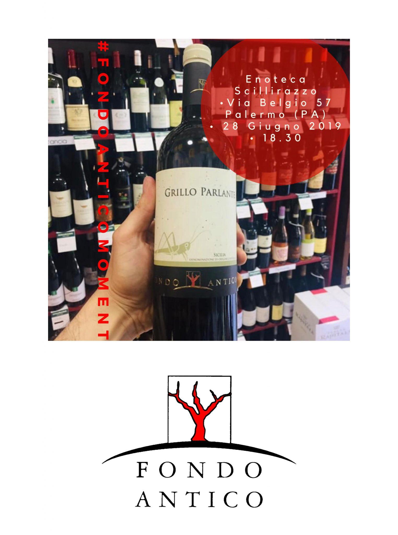Winetasting Grillo Parlante Fondo Antico @ Scillirazzo Enoteca Sicula
