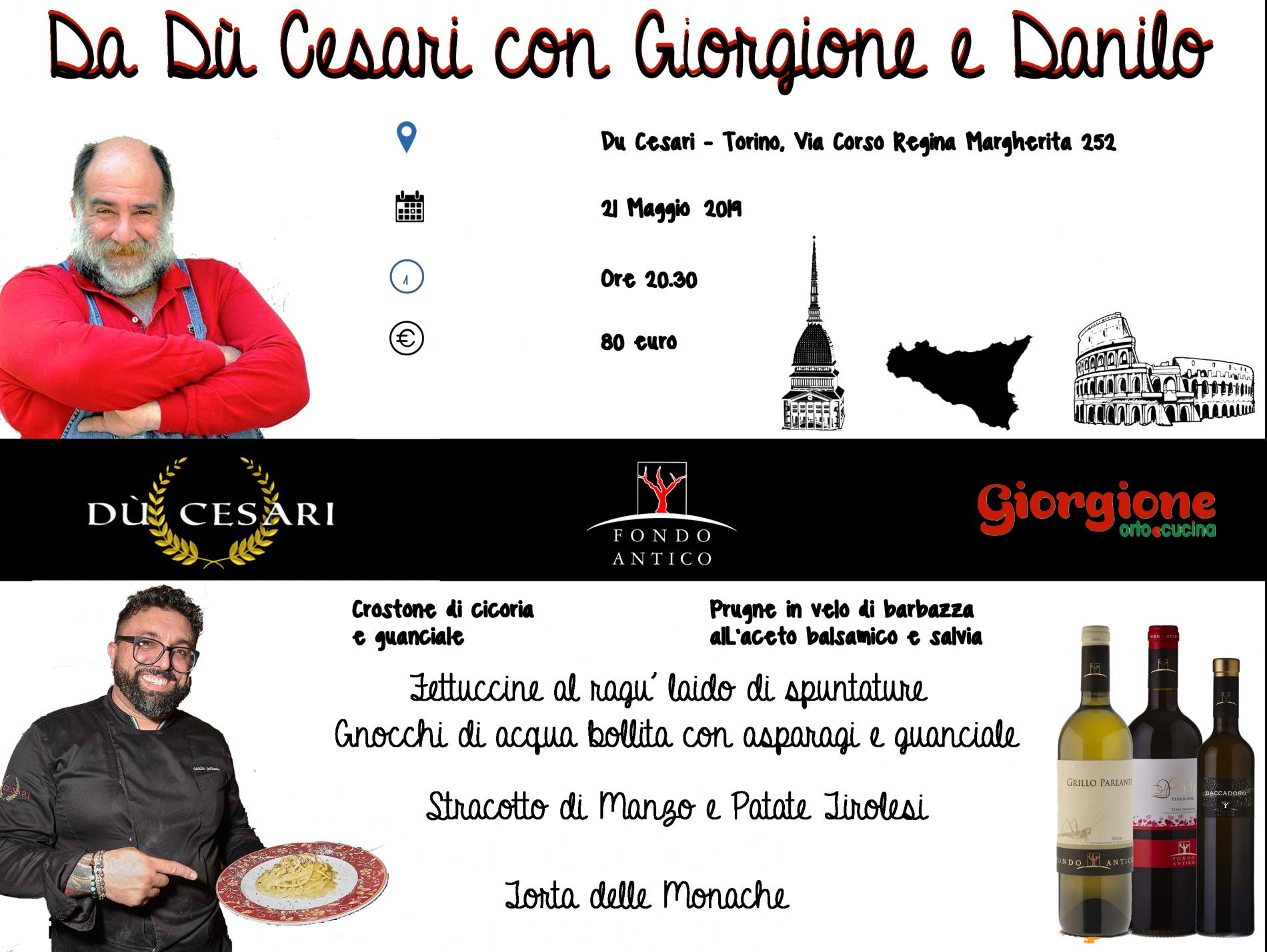 #Danilo&Giorgione – A story at Dù Cesari in Turino