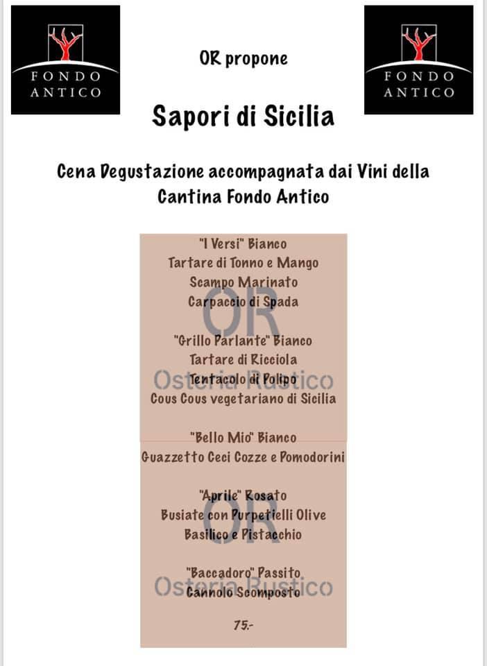Sapori di Sicilia – Osteria Rustico (Lugano, Svizzera)