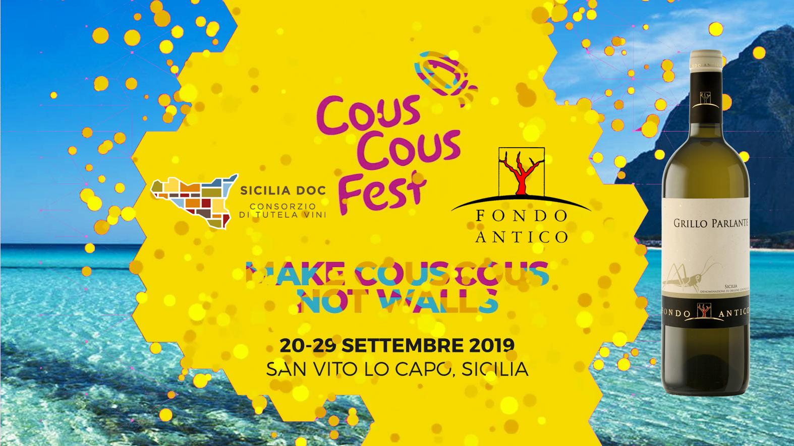 Grillo Parlante al Cous Cous Fest con il Consorzio DOC Sicilia