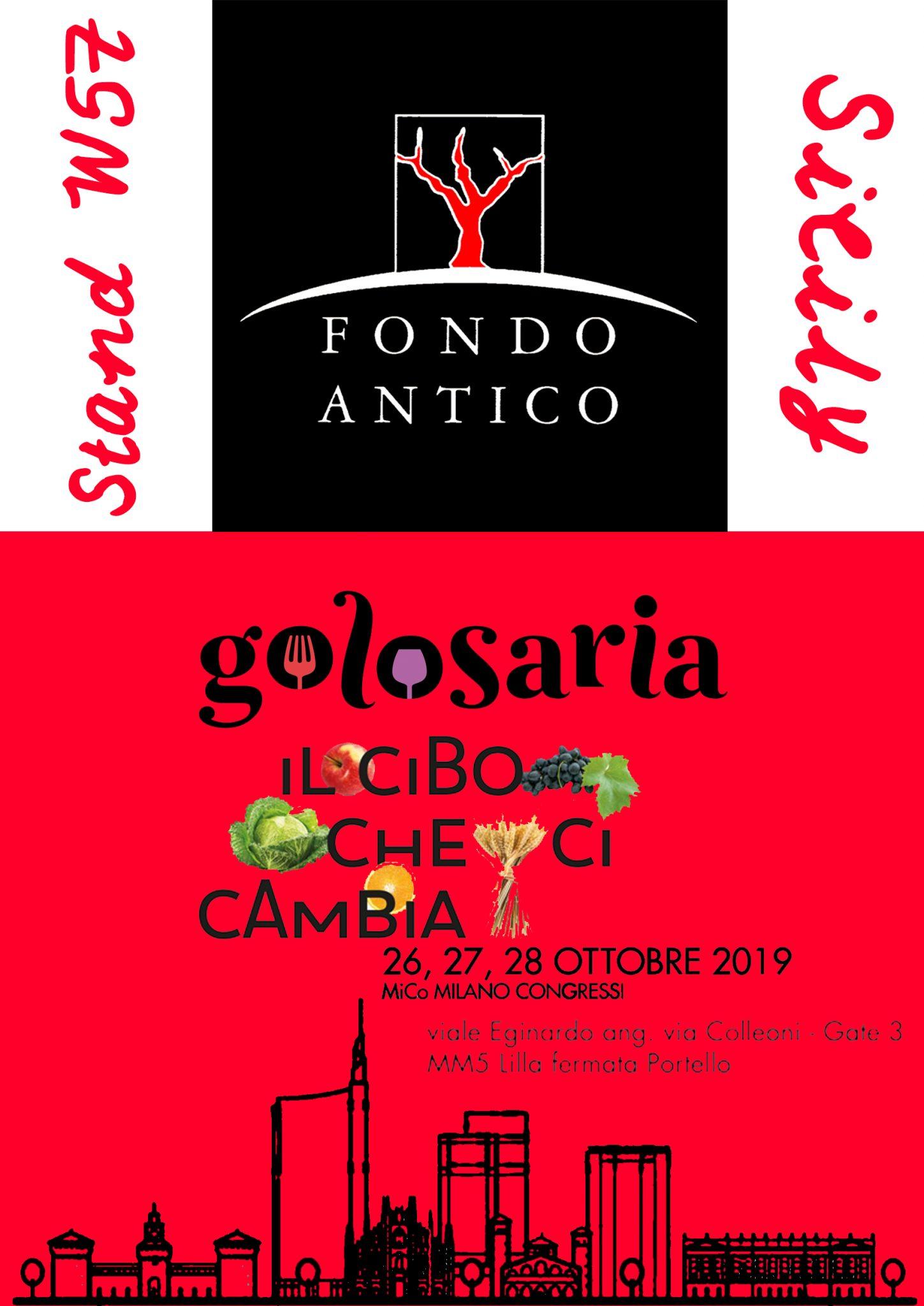Fondo Antico @ Golosaria 2019 – Milano (Mi)