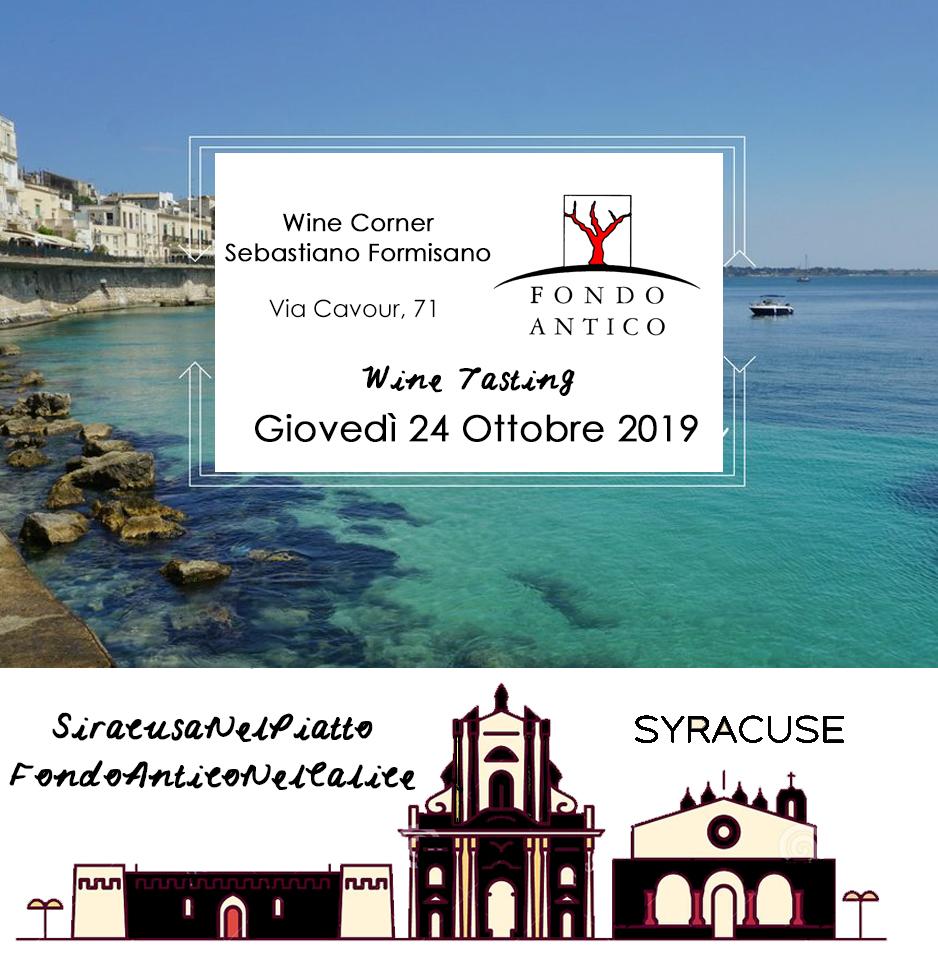 Siracusa Nel Piatto Fondo Antico nel Calice – Syracuse (SR) | 3° Wine Tasting