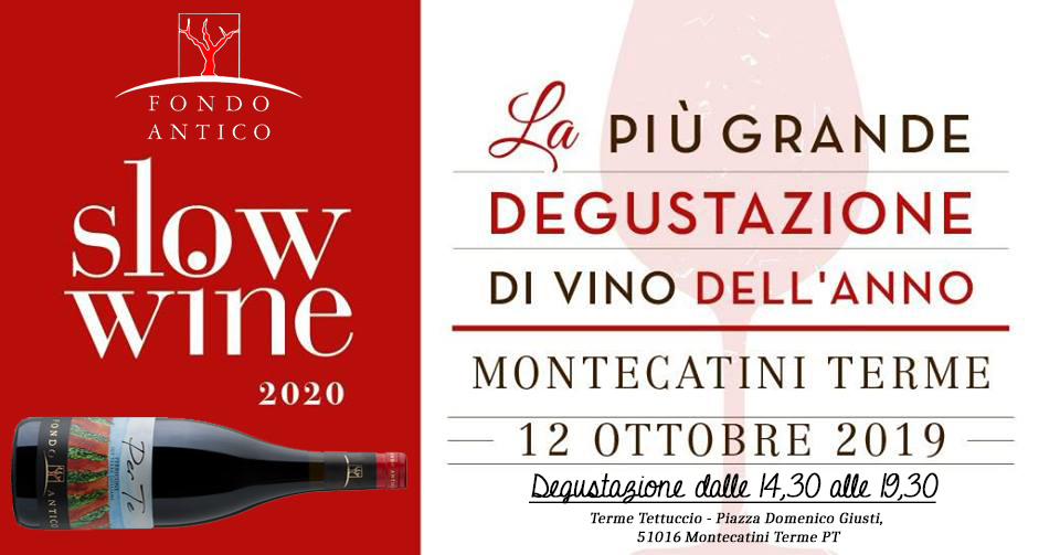 Slow Wine Tasting in Tuscany – Montecatini Terme (FI)